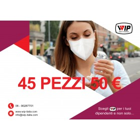 MASCHERINA FFP2 COVID-19, 45 PEZZI